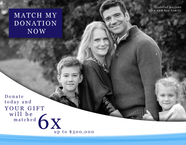 Donate today and your gift will be matched six times!