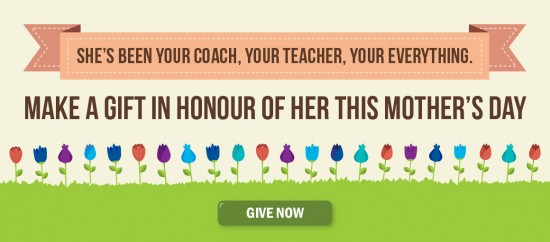 Give in honour of her this Mother's Day