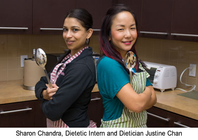 Sharon Chandra, Dietetic Intern and Dietician Justine Chan