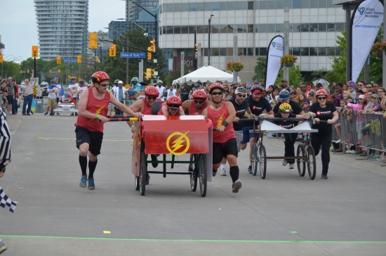 Teams decorated and raced their beds as they battled it out to the finish line in support of Trillium Health Partners at the Scotiabank Bed Race on June 5.